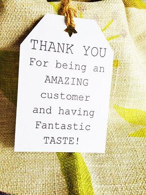 Thank You note to customer