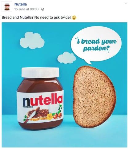 Nutella Facebook post