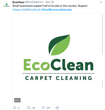 EcoClean social media post