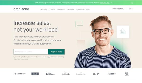 Omnisend marketing automation tool