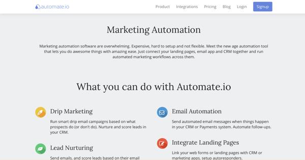 automate.io marketing automation tool
