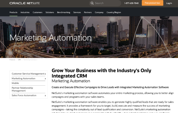 Netsuite marketing automation tool
